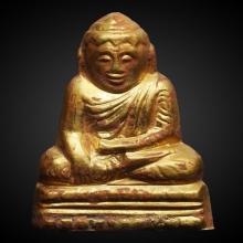 พระบัวเข็มศิลปะพม่าเนื้อทองคำ