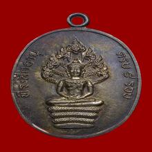 เหรียญปรก8รอบปู่ทิม เนื้อเงิน มีจาร สภาพสวยแชมป์