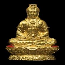 หลวงปู่โต๊ะ.พระบูชาเจ้าแม่กวนอิม ผิวกะไหล่ทอง