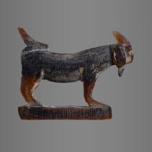 แพะหลวงพ่อลัด (ศิลป์ท้องยัอย) ทูโทน ผิวหิ้งสภาพ  99.99 %