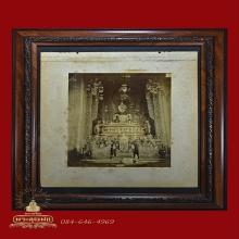 รูปถ่ายซีเปีย พระพุทธชินสีห์ วัดบวรนิเวศราชวรวิหาร