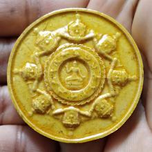 เหรียญจตุคามรามเทพรุ่นเจดีรายเคลือบเหลืองสวยๆครับ