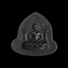 พระอะระหังหลังอุหลวงปู่เฮี้ยง เนื้อผงคลุกรัก พ.ศ.2499