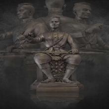 พระบรมรูปสมเด็จพระนเรศวรมหาราช รุ่น ๔๐๐ ปีครองราชย์ 9 นิ้ว
