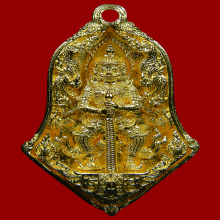 เหรียญหล่อ ท้าวเวสสุวรรณ รุ่นพุทธศิลป์ ทองคำ