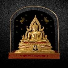พระพุทธชินราชจำลอง ฐานลายสองชั้น ด้านหน้าอกเลาบนผ้าทิพย์ 5
