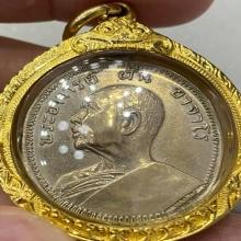 เหรียญอ.ฝั้นรุ่น9เนื้ออัลปาก้าสภาพสวยแชมป์เลี่ยมทอง