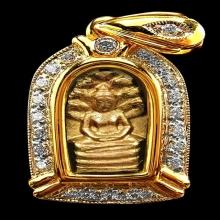 อันดับ ๑ เบญจภาคี พระนาคปรก เนื้อทองคำ เจ้าคุณสนิท