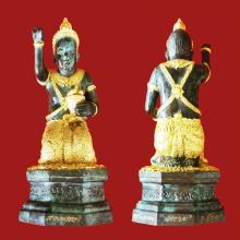 กุมารคงทอง (รุ่นนั่งรวย) ปิดทองกรรมการ หลวงปู่หงษ์