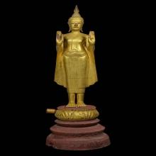 ๙ พระบูชาไม้โพธิ์แกะปางห้ามสมุทรหลวงปู่บุญ วัดกลางบางแก้ว ๙