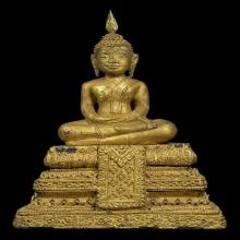 ๙ พระบูชาไม้แกะปางสมาธิหลวงปู่บุญ วัดกลางบางแก้ว ๙