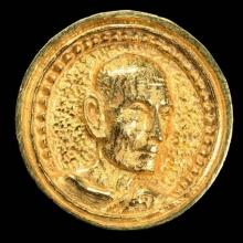 หลวงปู่โต๊ะเหรียญล้อแม็กใหญ่เนื้อทองคำ