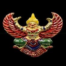 ครุฑอาจารย์วราห์ วัดโพธิ์ทอง รุ่นโคตรรวย เนื้อทองคำลงยา