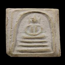 สมเด็จเผ่า วัดอินทร์ พิมพ์อกร่องหูบายศรี พ.ศ.2495