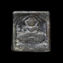 หลวงปู่ศุข วัดปากคลองมะขามเฒ่า พิมพ์สี่เหลี่ยมประภามณฑล ข้าง