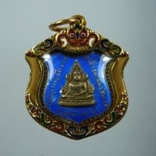 เหรียญเข็มกลัดพระพุทธชินราช พ.ศ.๒๔๙๑ เนื้อเงินลงยา