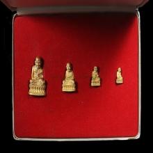 รูปหล่อหลวงปู่ทวด ชุดทองคำ รุ่นสร้างเจดีย์ปี33