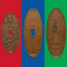 ชุดเหรียญมือ เหรียญบาตรน้ำมนต์ เหรียญจับโป้ย วัดบวรฯ ชุด ๒