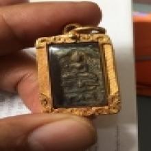 เหรียญหล่อหลวงปู่ศุขออกวัดคลองขอม พิมพ์หนุมานแบกแท่น