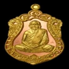 เหรียญเสมาหลวงตาบุญหนา รุ่นพิเศษ เนื้อพิเศษฉลุทองคำพื้นนาก