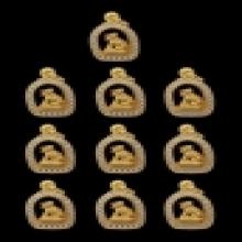 ตลับพระล้อมเพชรใส่เสือทองคำ รุ่นมงคลเทพทักษิณสร้าง99องค์
