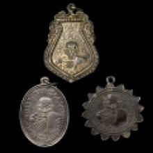 ชุดเหรียญ หลวงพ่อเขียน เนื้อเงินหลังชินราช