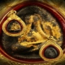 พระปิดตาโสฬส (แข้งเฉียง)หลังแบบพระ หลวงปู่ทิม วัดละหารไร่
