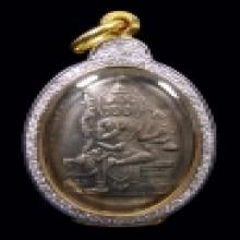 เหรียญพรหมเนื้อเงินรูปไข่(รุ่นแรก) อ.เฮง ไพรวัลย์