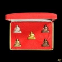รูปเหมือนปั๊มรุ่นแรก ลพ.เปิ่น ปี 35 ชุดทองคำ +กล่องเดิม