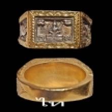 แหวนพระหลวงปู่ดู่ปี 2527 เลี่ยมทองพอสวย