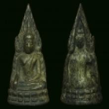 พระพุทธชินราชอินโดจีน พิม์สังฆาติสั้น,หน้าใหญ่,ซุ้มบายศรี