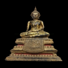 059พระพุทธรูปสมัยอยุธยา ศิลปะบ้านพลูหลวง หน้าตัก ๕ นิ้ว
