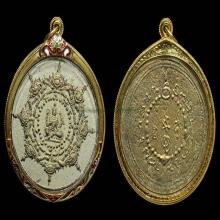 027 กลมใหญ่ องค์พ่อจตุคามฯ ปี30 ขาวปัดทอง สวยขั้นเทพ
