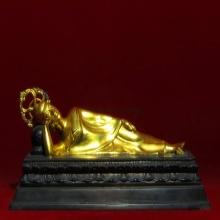 ปางไสยาสน์ วัดราชาธิวาส ลงรักปิดทอง ดินไทย ขนาด6x12นิ้ว